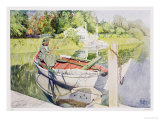 Fishing, 1909 Premium Giclee Print by Carl Larsson