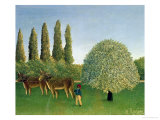 In the Fields, 1910 Giclee Print by Henri Rousseau