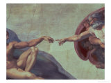 Sistine Chapel Ceiling: Creation of Adam, Detail of the Outstretched Arms, 1510 Giclee Print by  Michelangelo Buonarroti