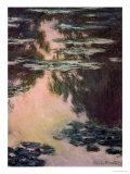 Waterlilies with Weeping Willows, 1907 Premium Giclee Print by Claude Monet