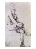 Study of Adam for the &quot;Disputa,&quot; circa 1510 Reproduction proc&#233;d&#233; gicl&#233;e par Raphael 
