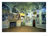 The Camera Degli Sposi or Camera Picta with Scenes from the Court of Mantua Giclee Print by Andrea Mantegna
