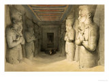 "Interior of the Temple of Abu Simbel, from ""Egypt and Nubia,"" Vol.1 Premium Giclee Print by David Roberts"