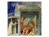 The Birth of the Virgin, circa 1305 Giclee Print by  Giotto di Bondone