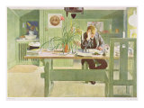 "The Study Room, Published in ""Lasst Licht Hinin,"" (""Let in More Light"") 1908 Giclee Print by Carl Larsson"
