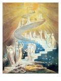 Jakobsstigen Premium Giclée-tryk af William Blake
