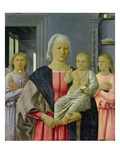 Madonna of Senigallia with Child and Two Angels, C.1470 (Tempera on Panel) Giclee Print by  Francesca