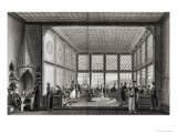 Interior of a Public Cafe in Constantinople by the Bosphorus, 1819 Giclee Print by Anton Ignaz Melling