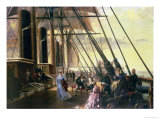 "From Sheerness to Valentia, a Group of Figures on Board the ""Great Eastern"" Giclee Print by Robert Dudley"