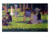 "Study for ""A Sunday Afternoon on the Island of La Grande Jatte,"" circa 1884-86 Giclée-trykk av Georges Seurat"