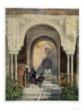 The Room of the Two Sisters in the Alhambra, Granada, 1853 Giclee Print by Leon Auguste Asselineau