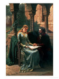 Abelard and His Pupil Heloise, 1882 Reproduction proc&#233;d&#233; gicl&#233;e par Edmund Blair Leighton
