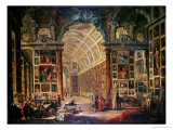 Interior View of the Colonna Gallery, Rome Giclee Print by Giovanni Paolo Pannini