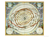 "Planetary Orbits, Plate 18 from ""The Celestial Atlas, or the Harmony of the Universe"" Premium Giclee Print by Andreas Cellarius"