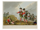 Anecdote of the Bravery of the Scotch Piper of the 11th Highland Regiment at the Battle of Vimiero Premium Giclee Print by Franz Joseph Manskirch