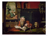 The Meditation of St. Jerome Giclee Print by Quentin Metsys