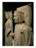 "Effigies from the Tomb of Charles V the ""Wise"" circa 1364 Giclee Print by Andre Beauneveu"