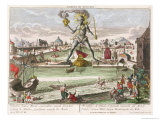 The Colossus of Rhodes, Second Wonder of the World Giclee Print by Georg Balthasar Probst