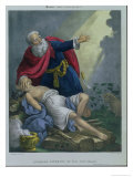 Abraham Offering up His Son Isaac, from a Bible Printed by Edward Gover, 1870s Lámina giclée por Siegfried Detler Bendixen
