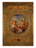 Diana and Actaeon, from the Ceiling of the Library Giclee Print by Battista Franco