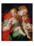 Madonna and Child with the Infant St. John the Baptist Giclée-tryk af Jacopo da Carucci Pontormo