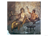 Banqueting Couple with a Slave, from Herculaneum, circa 50-79 AD Giclee Print