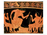 A Musical Contest, Detail from an Attic Red-Figure Calyx-Krater, from Cervetri, circa 510 BC Reproduction procédé giclée par Euphronios