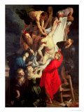 The Descent from the Cross, Triptych Depicting the Visitation, the Deposition and the Presentation Giclee Print by Peter Paul Rubens