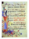 "Historiated Initial ""I"" Depicting St. John the Evangelist Reproduction procédé giclée par Fra Angelico"
