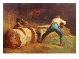 The Wood Sawyers, 1848 Giclee Print by Jean-François Millet