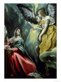 The Annunciation, circa 1575 Giclee Print by El Greco
