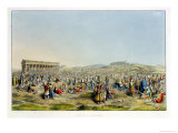 Festival at Athens, Published by J. Rodwell, 1830 Giclee Print by Edward Dodwell