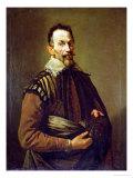 Portrait of Claudio Monteverdi Giclée-tryk af Domenico Fetti