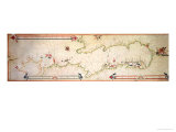 Miniature Nautical Map of the Adriatic, 1624 Giclee Print by Alvise Gramolin