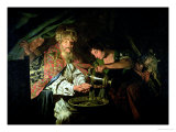 Pilate Washing His Hands Premium Giclee Print by Matthias Stomer