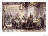 Dinner Party at a Mandarin's House Giclee Print by Thomas Allom