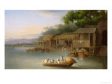 A Riverside Dwelling, Indo-China Giclee Print by George Chinnery