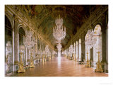 The Galerie Des Glaces 1678 Giclee Print by Jules Hardouin Mansart