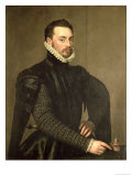 Portrait of a Man from the Retinue of Cardinal Granvelle Giclee Print by Antonis Mor