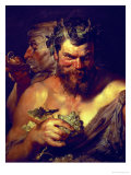 Two Satyrs Giclee Print by Peter Paul Rubens