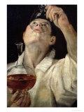 Portrait of a Man Drinking, circa 1581-4 Giclée-tryk af Annibale Carracci