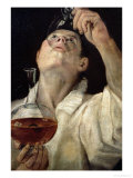 Portrait of a Man Drinking, circa 1581-4 Giclee Print by Annibale Carracci