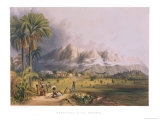 "Esmeralda, on the Orinoco, Site of a Spanish Mission, from ""Views in the Interior of Guiana"" Giclee Print by Charles Bentley"