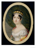 Portrait Miniature of the Empress Josephine Giclee Print by Andre Leon Larue