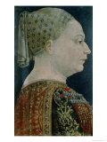 Portrait of Maria Sforza Giclee Print by Bonifacio Bembo