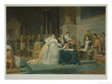The Divorce of the Empress Josephine 15th December 1809 Giclee Print by Henri-frederic Schopin