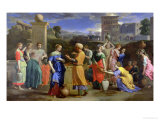 Eliezer and Rebecca at the Well, 1648 Giclee Print by Nicolas Poussin