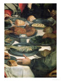 The Last Supper, Detail of the Food Premium Giclee Print by Daniele Crespi