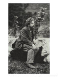 Portrait Photograph of William Morris Premium Giclee Print by Frederick Hollyer