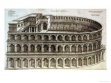 Plan of the Theatre of Marcellus, Rome, 1558 Giclee Print by Michael Tramezini